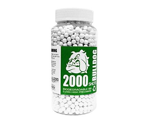Bulldog Airsoft Biodegradable 6MM BB Pellets 0.28G 2000 White by Bulldog