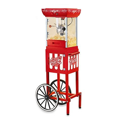 Nostalgia Electrics Compact Old Fashioned Movie Time Popcorn Cart