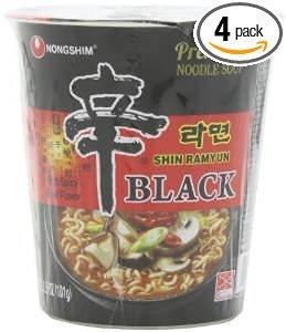 Nong Shim Noodle Cup Black Shin
