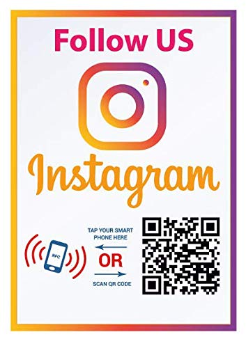Follow Us on Instagram Sticker - Social Media QR Code and NFC Tag - Storefront Window Sticker - Two-Sided Window Sticker - Custom-Designed for Instagram for $<!--$12.99-->