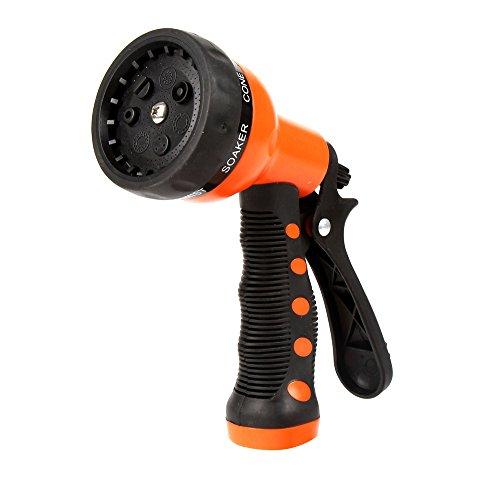 Garden hose nozzle hand sprayer 7 pattern high pressure import it all for High pressure garden hose nozzle