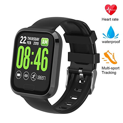 beitony Fitness Tracker, Smart Watch with Blood Pressure/Heart Rate Monitor, Calorie Counter, Pedometer, IP67 Waterproof, Sleep Monitor Activity Tracker for Men Women Kids -