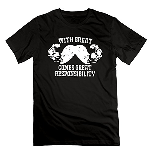 FONY Men's with Great Mustache Comes Great Responsibility Short Cool Shirts
