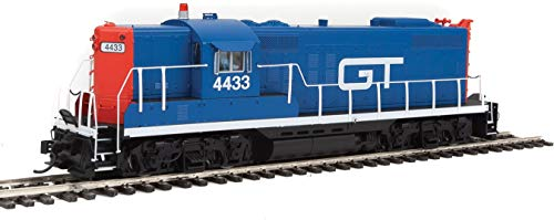 EMD GP9 - LokSound Select DCC & Sound -- Grand Trunk Western #4433 (blue, red, - Grand Ho Trunk Scale
