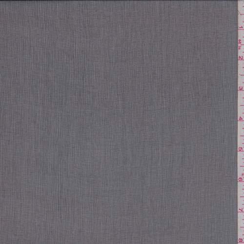 Off Black Silk Crinkle Chiffon, Fabric by The Yard
