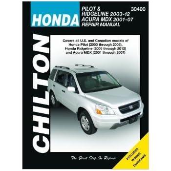 amazon com acura mdx honda pilot ridgeline haynes manual 2001 rh amazon com 2004 Acura El 2003 acura el 1.7 owners manual