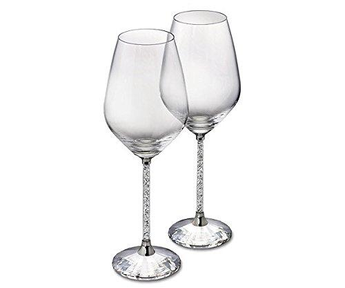 Swarovski Crystalline White Wine Glasses, Set of 2 by Swarovski