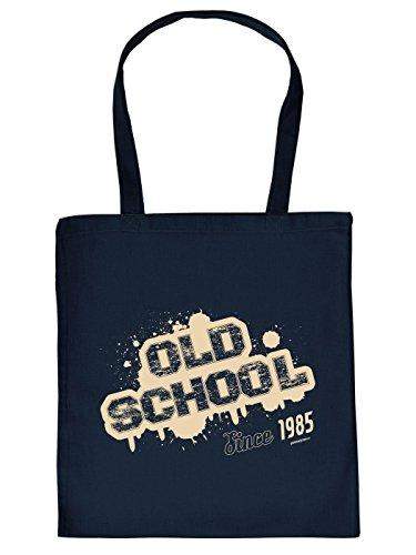 Baumwolltasche zum 30. Geburtstag, zu Weihnachten, Ostern: OLD SCHOOL since 1985 - von Goodman Design