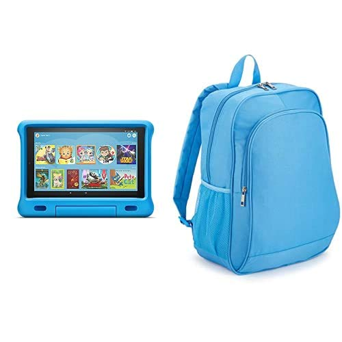 Fire HD 10 Kids Tablet 32GB Blue with Amazon Exclusive Kids Tablet Backpack, Blue