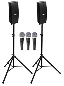 bose 402. bose portable speaker package with 402 series iv speakers, (2) ultimate support stands and (3) microphones d