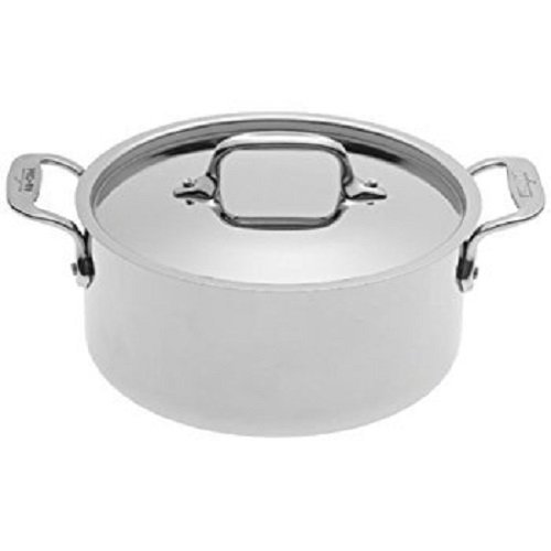 All-Clad 4303 Stainless Steel Tri-Ply Bonded Dishwasher Safe Casserole with Lid Cookware, 3-Quart, Silver ()