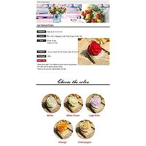 XGM GOU 10Pcs/Lot DIY Rose Artificial Flower Heads Bride Bouquet Silk Flower Wedding Arch Flower Arrangement Accessories 8.5Cm Dia 5