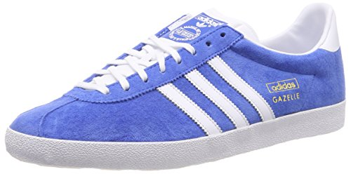 adidas Gazelle OG, Scarpe da Corsa Unisex-Adulto Blu (Blau (Air Force Blue/White/Metallic Gold))