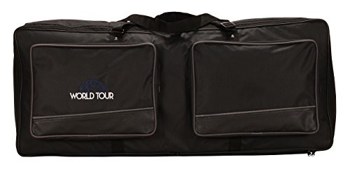 World Tour KC18S10N Keyboard Gig Bag, 38 x 15 x 6 in. - Front Gusseted Zippered Pocket