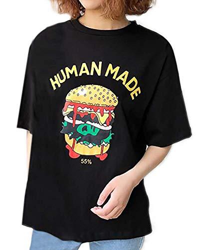 ミスビルダー相続人Mignon Mignon ハンバーガー プリント かわいい ポップ レトロ おしゃれ 半袖 Tシャツ