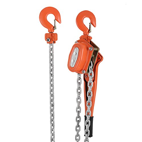 Happybuy 1-1/2 Ton Lift Lever Block Chain Hoist 5Feet Come Along Puller Lift Hoist (1-1/2 Ton 5ft)