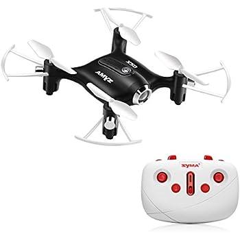 SYMA X20 Pocket Drone 2.4G 4CH 6Aixs Altitude Hold Mode One Key Tak-off/Landing RC Quacopter RTF - Black