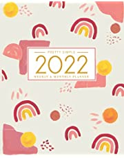 2022 Planner Weekly and Monthly: January to December | Agenda and Daily Organizer | Rainbow Chic Cover