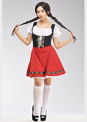 Magic Box Traje bávaro Rojo Estilo Heidi para Mujer XL (UK 18-20 ...
