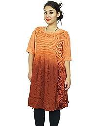Multicolor Dress Sleeveless Rayon Women Wear Summer Tunic Sundress