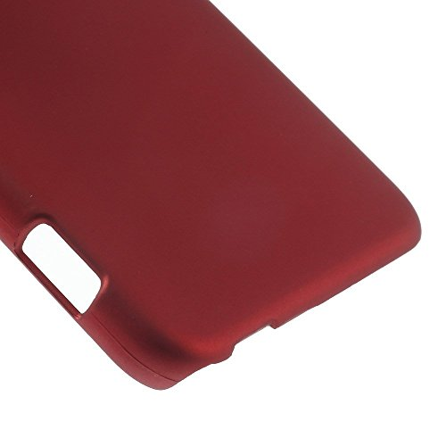 JUJEO Rubberized Plastic Hard Shell Case for HTC Desire Eye - Non-Retail Packaging - Red