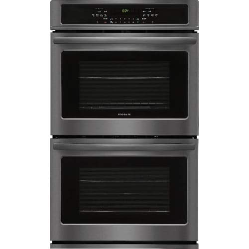 D 30 Inch 4.6 cu. ft. Total Capacity Electric Double Wall Oven with 4 Oven Racks, in Black Stainless Steel ()