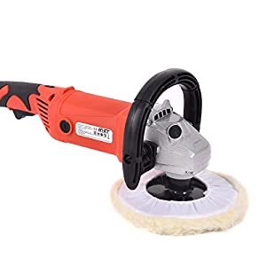 "COLIBROX--7"" Electric 6 Variable Speed Car Polisher Buffer Waxer Sander Detail Boat w/Case. best dual action polisher for beginner. professional car polishers and buffers. car buffer walmart."