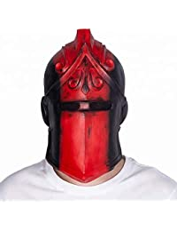 Red Knight Mask Full Face Mask Helmet - Halloween Cosplay Props for Costume Accessories