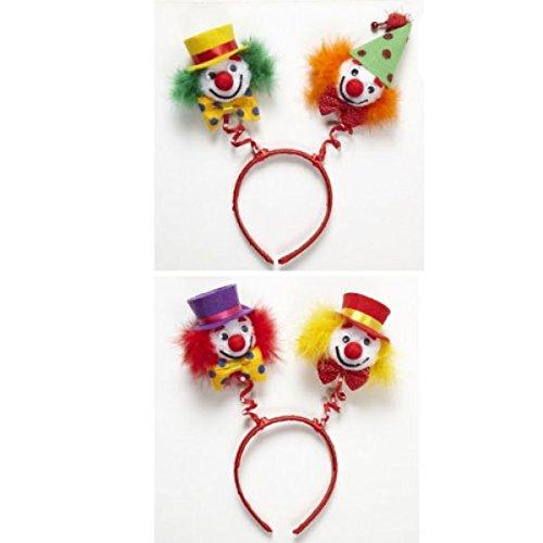 Clown Head Boppers (green/orange & Red/yellow) Clown Hats Caps & Headwear For - Spanish Headwear