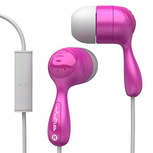 JLab Audio JBuds Hi-Fi Noise-Reducing Ear Buds with Universal Microphone, GUARANTEED FOR LIFE - Pink
