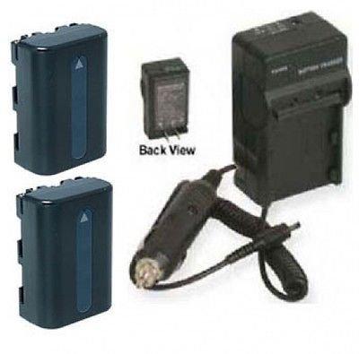 2電池+充電器for Sony ccd-trv408、Sony trv608、Sony dcr-dvd91、Sony dvd100、Sony dvd101、Sony dvd200   B01DNAAF3K