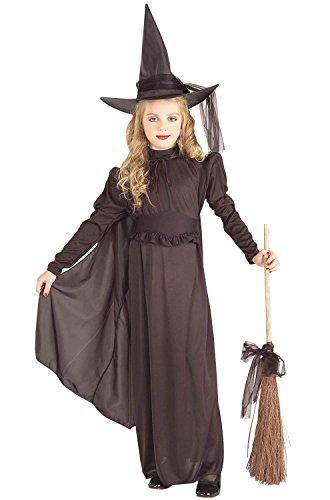 Girls Black Witch Costume (Forum Novelties Classic Witch Child Costume, Medium,)
