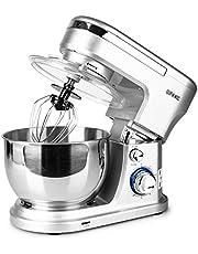 Duronic SM104 Keukenmachine | 1000 W Standmixer met 4 Liter Mengkom | 6 Snelheden & Pulse Functie | Incl. 3 Accessoires, 1 Deeghaak, 1 Klopper, 1 Garde | Bak Heerlijke Cake, Taart, Cupcakes etc.