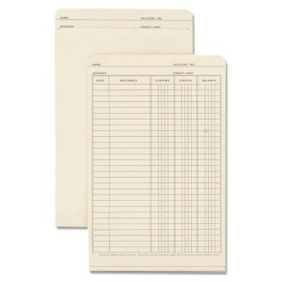 Bx Manila - Acco/Wilson Jones : Folders for Use in Plastic Ledger, 9-1/2quot;x6quot, 100/BX, Manila -:- Sold as 2 Packs of - 100 - / - Total of 200 Each
