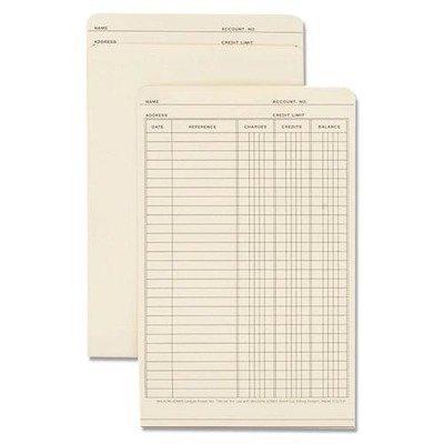 Acco/Wilson Jones : Folders For Use In Plastic Ledger, 9-1/2quot;x6quot;, 100/BX, Manila -:- Sold as 2 Packs of - 100 - / - Total of 200 (Plastic Ledger)