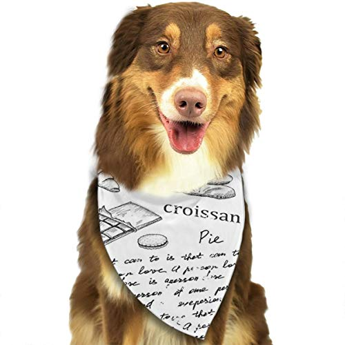 SEVENHOUSE Dog Bandana Famous Parisian Elements Coffee Eiffel