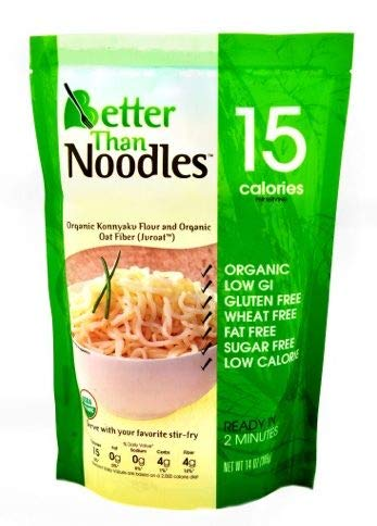 Better Than Noodles. Certified Organic. Vegan, Gluten-Free, Non-GMO, Konjac Noodles 14 Ounces (6 Pack) - Mushroom Noodle Bowl Rice