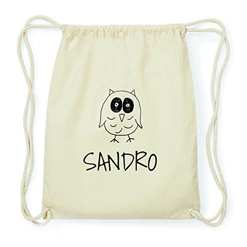 JOllipets SANDRO Hipster Turnbeutel Tasche Rucksack aus Baumwolle Design: Eule hjRo0v