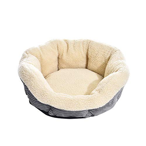 AmazonBasics Round Self Warming Pet Bed For Cat or Dog - 24 x 8 Inches