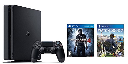 Playstation-4-Slim-2-items-Bundle-PlayStation-4-Slim-500GB-Console-Uncharted-4-Bundle-and-Watch-Dogs-2