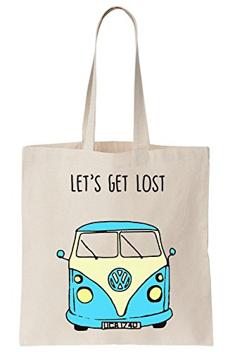 Tote Hippie Around Lost Traveling World The Car Let's Get Canvas For Colorful Bag wP6Uxaqt