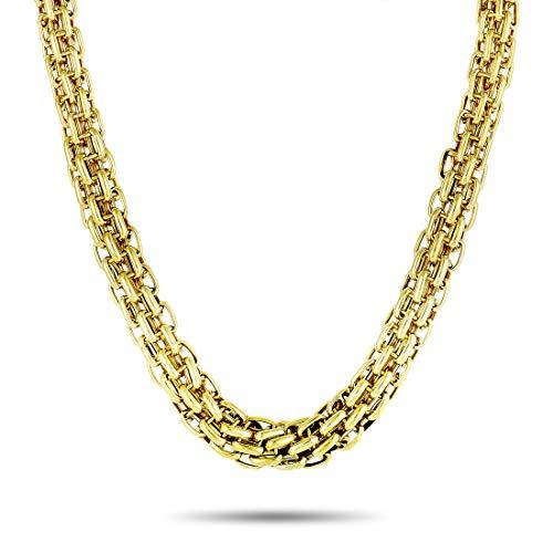 Bvlgari (Est.) Bvlgari 18K Yellow Gold Diamond Link Choker Necklace