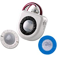 Leviton OSFHU-I4W Mounted PIR High-Bay Sensor with 3 Interchangeable Lenses, 480V, White