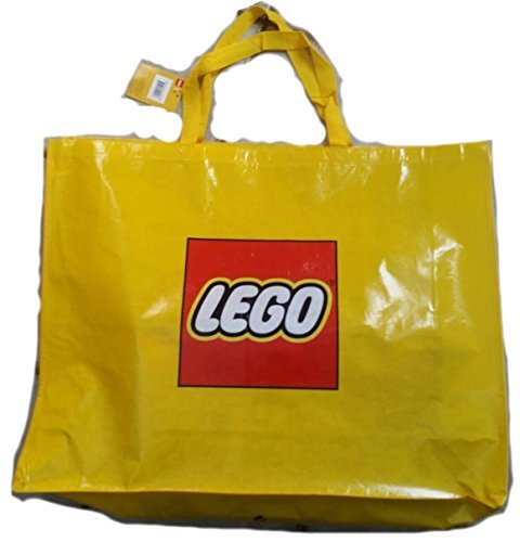 Lego Exclusive Promo Large Retail Shopper Bag 29x22 1/2 Carrying Storage Tote Bag (Yellow, 5005325)