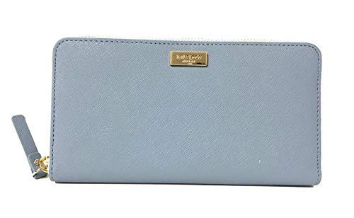 Wallet Blue Womens (Kate Spade Newbury Lane Neda Leather Wallet (Cloudcover))