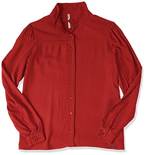 Camisa Gola Alta, Colcci, Feminino, Vermelho (Vermelho Labelle), P