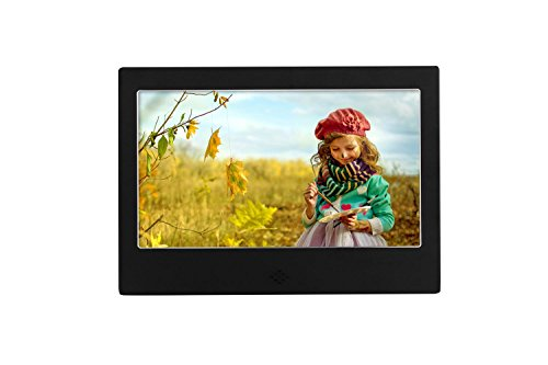 ? 7'' Digital Photo Frame ? Screen 800×480 High Resolution Aluminum alloy Support MP3 MP4 Video Player Clock and Calendar Function with Remote Control? , Black