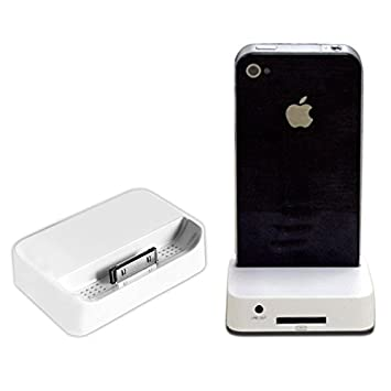 ec7b9487e9d BASE BLANCA DOCK DE CARGA Y SINCRONIZACIÓN PARA IPHONE Y IPOD: Amazon.es:  Electrónica