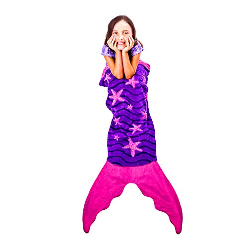 Blankie Tails Mermaid Blanket for Kids - NEW Starfish Design
