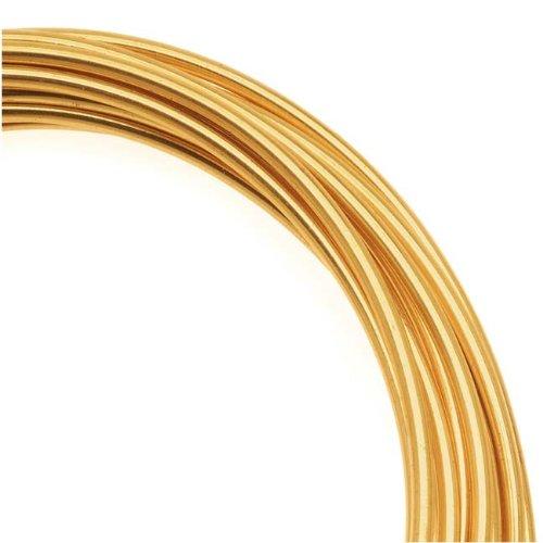 Artistic Craft Wire Gold Color Brass Non Tarnish 14 Gauge / 10 - Gauge Craft 10 Wire